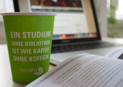 HFU Bibliothek, Coffee-to-go Becher